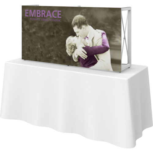 Embrace 5ft Tabletop Push-Fit Tension Fabric Display