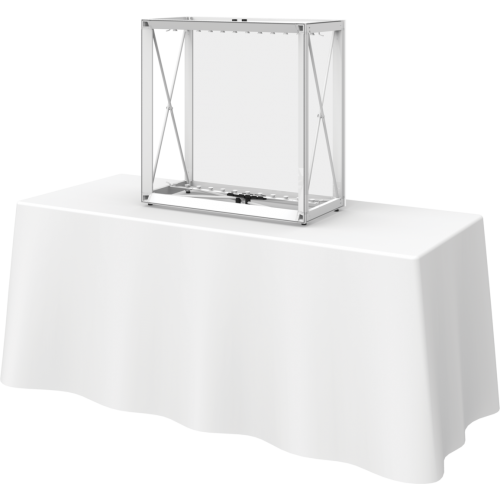 Embrace 2.5ft Backlit Tabletop Push-Fit Tension Fabric Display