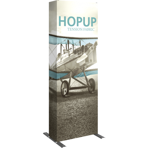 Hopup 2.5ft Straight Full Height Tension Fabric Display