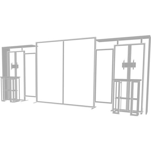 Hybrid Pro 20ft Modular Backwall Kit 11