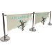 Cafe Barrier Indoor/Outdoor Banner Stand System Extension Kit
